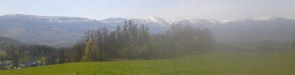 025 panorama Karkonoszy widziana z Bukowca